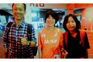 鈴木亜由子選手と両親
