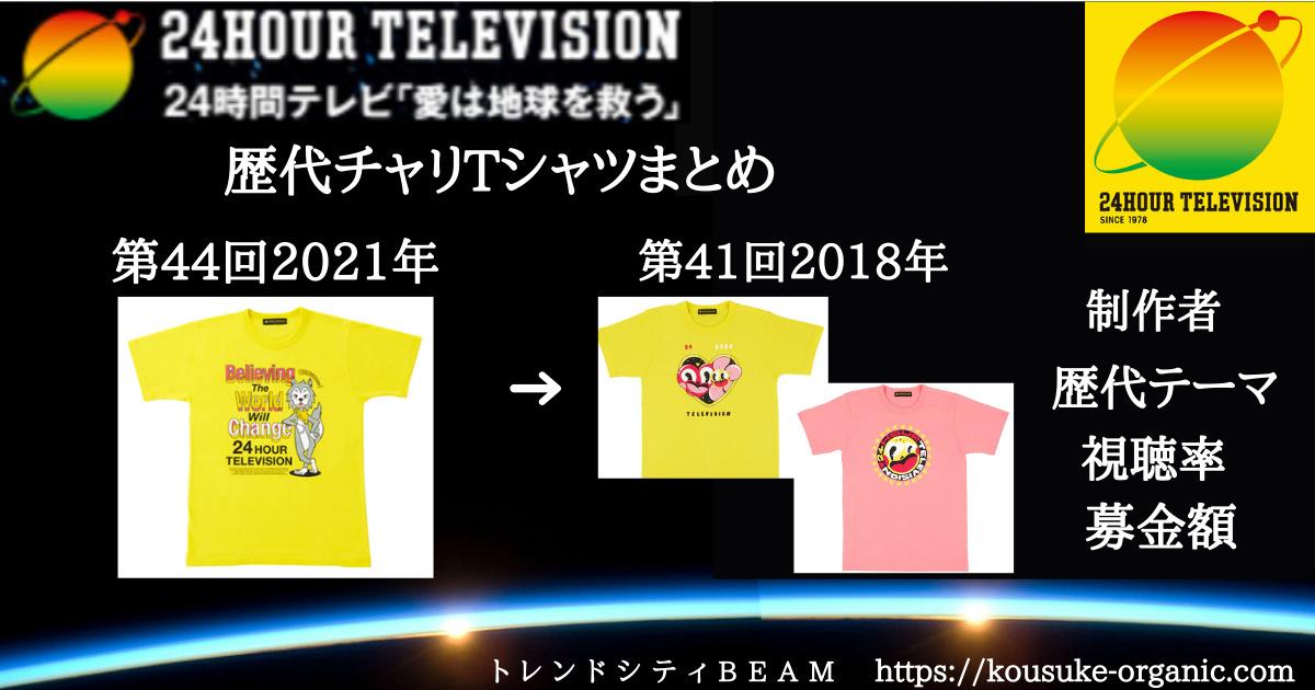 24時間テレビ【2021-2018】チャリTシャツまとめ!