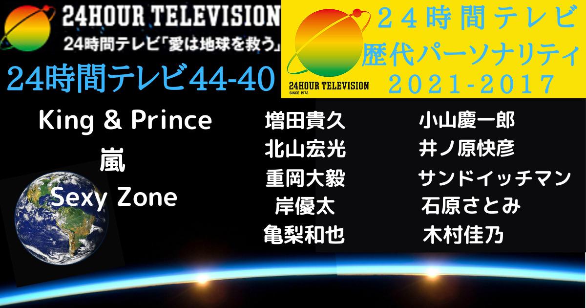 24時間テレビ44-40パーソナリティまとめ