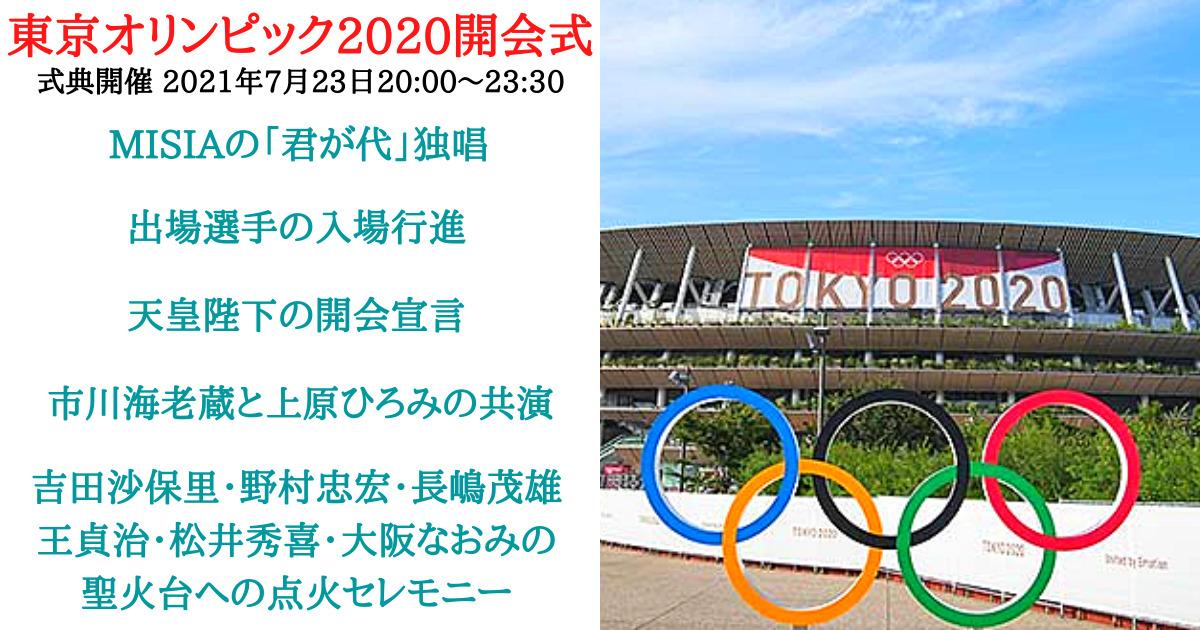東京オリンピック2020開会式について